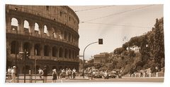 Colosseum In Sepia Beach Sheet