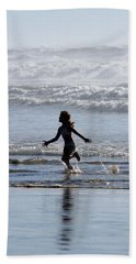 Beach Towel featuring the photograph Come As A Child by Holly Ethan