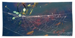 Beach Towel featuring the photograph Complexity Of The Web by Nina Prommer