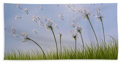 Contemporary Landscape Art Make A Wish By Amy Giacomelli Beach Towel by Amy Giacomelli