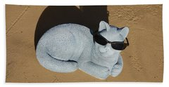 Beach Towel featuring the photograph Cool Cat by Aimee L Maher Photography and Art Visit ALMGallerydotcom