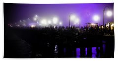 Beach Sheet featuring the photograph Cool Night At Santa Monica Pier by Clayton Bruster