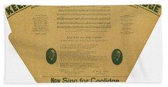 Coolidge: Campaign, 1924 Beach Towel
