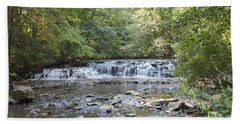 Beach Towel featuring the photograph Corbetts Glen Waterfall by William Norton