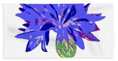 Beach Towel featuring the digital art Cornflower by Barbara Moignard