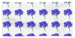 Cornflowers Beach Sheet by Barbara Moignard