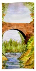 Country Bridge Beach Towel