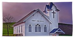 Country Church At Sunset Art Prints Beach Towel