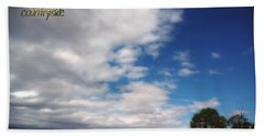 Beach Towel featuring the photograph Country Sky by Vicki Ferrari