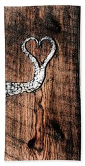 Beach Towel featuring the photograph Crafted Heart by Michelle Joseph-Long