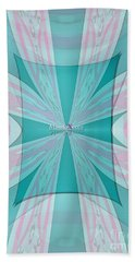 Cream Mint Flow Beach Towel