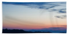 Crescent Moon Twilight Beach Towel