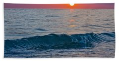 Crystal Blue Waters At Sunset In Treasure Island Florida 3 Beach Towel