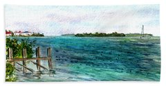 Beach Sheet featuring the painting Cudjoe Bay by Clara Sue Beym