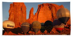 Dawn Flight In Monument Valley Beach Towel by Vivian Christopher