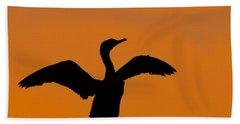 Dawn Of A Double-crested Cormorant  Beach Towel