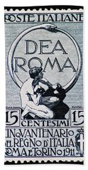 Beach Towel featuring the photograph Dea Roma by Andy Prendy
