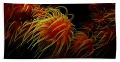 Deep Ocean Coral Polyp Beach Sheet