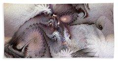 Beach Towel featuring the digital art Derailing Destiny by Casey Kotas