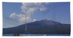 Beach Towel featuring the photograph Docks At Diamond Lake by Mick Anderson