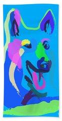 Dog - Colour Dog Beach Towel