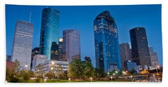 Downtown Houston Beach Towel