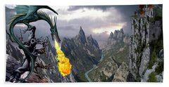 Dragon Valley Beach Towel by The Dragon Chronicles - Garry Wa