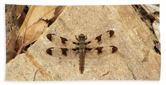 Beach Towel featuring the photograph Dragonfly At Rest by Deniece Platt