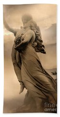 Dreamy Surreal Guardian Angels Ascent To Heaven Beach Towel