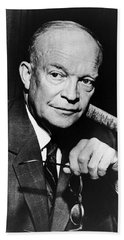 Beach Sheet featuring the photograph Dwight D Eisenhower - President Of The United States Of America by International  Images