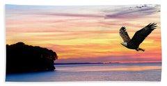 Beach Towel featuring the photograph Eagle Sunrise by Randall Branham
