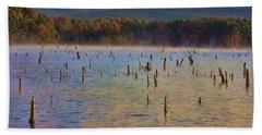 Early Morning Color Of Lake Wilhelmina-arkansas Beach Towel