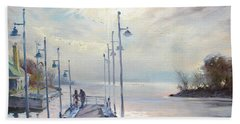 Early Morning In Lake Shore Beach Towel