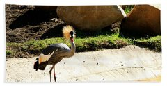 East African Crowned Crane Beach Towel