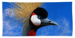 East African Crowned Crane Beach Sheet by Methune Hively