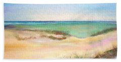 Beach Sheet featuring the painting Easy Breezy by Patricia Piffath