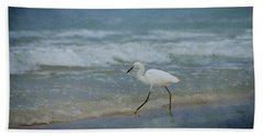 Egret Beach Towel by Sandy Keeton