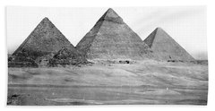 Egyptian Pyramids - C 1901 Beach Towel by International  Images