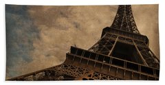 Eiffel Tower 2 Beach Sheet by Mary Machare