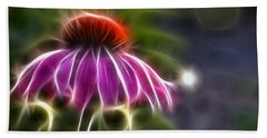 Electrified Coneflower Beach Towel by Lynne Jenkins