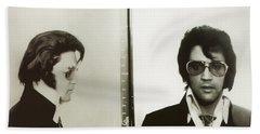 Elvis Mugshot 1970 Beach Towel