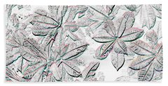 Embossed Crotons Beach Towel by Tom Wurl