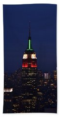Beach Towel featuring the photograph Empire State Building1 by Zawhaus Photography