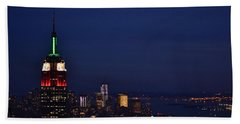 Beach Towel featuring the photograph Empire State Building3 by Zawhaus Photography