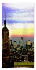 Beach Towel featuring the photograph Empire State Building4 by Zawhaus Photography