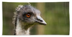Emu Profile Beach Towel by Jean Noren