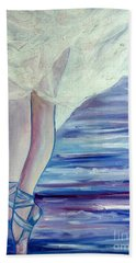 Beach Sheet featuring the painting En Pointe by Julie Brugh Riffey