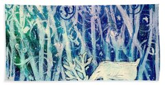 Enchanted Winter Forest Beach Towel