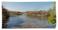 Beach Towel featuring the photograph Erie Canal Panorama by William Norton