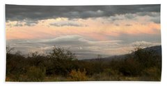 Evening In Tucson Beach Towel by Kume Bryant